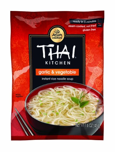 Thai Kitchen Gluten Free Garlic & Vegetable Instant Rice Noodle Soup, 1.6 (Fried Rice Noodles)