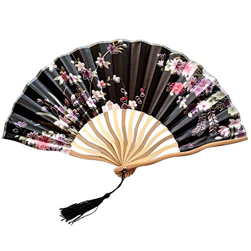 - Chinese Style Hand Held Fan Bamboo Paper Folding Party Wedding Decor Handheld Folded Circular Party,A,United States,