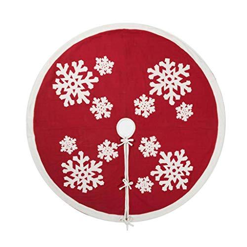 Vickerman 505731 - 60'' Felt Flakes Collection Tree Skirt (QTX17351) Christmas Tree Skirts by Vickerman (Image #1)