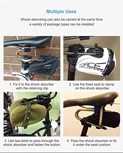Elikliv Bicycle Shock Absorber black Bicycle Seat Shock Absorber Cycling Seat Shock Spring Absorption Increase Device Saddle Shock Suspension Parts for MTB Bike Seat Cushion use