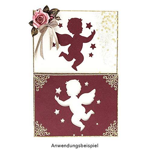 Jumbo-Stanzer Motivgr/ö/ße: 6,3cm x 6,8cm Firmung Konfirmation Putten-Engel Kommunion Taufe Karten f/ür kirchliche Anl/ässe Motiv-Locher f/ür Papier Weihnachtskarten /& Deko f/ür Weihnachten