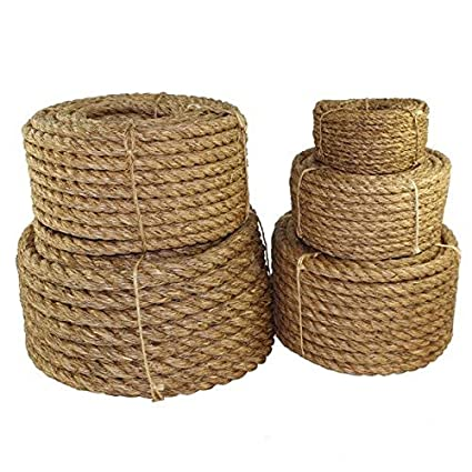 bec95fb0c8 Twisted Manila Rope Hemp Rope (1 2 in x 10 ft) - SGT KNOTS - Tan ...