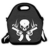 Skeleton Guns White LogoLunch Box For Girls Lunch Bag Lunch Box Food Bag Cute