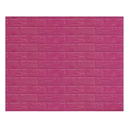 Amazon.com: 3D PE Foam Wall Stickers Balakie Embossed Brick Stone ...