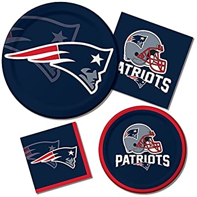 Creative Converting 8 Count New England Patriots Paper Dinner Plates