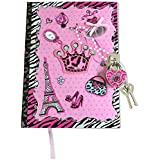 SmitCo LLC Journals For Girls, Blank Secret Kids Diary With Lock And Key, 100 Lined Pages Notebook In A Diva Design, Includes 2 Keys To Keep Her Secrets Safe, For Ages 6 And Over