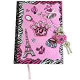 Diary For Girls - Journal Gift Set For Kids Ages 6 And Over - Secret Diva With Lock and Keys - 100 Page Blank, Lined Notebook - Includes 2 Keys To Keep Her Secrets Safe