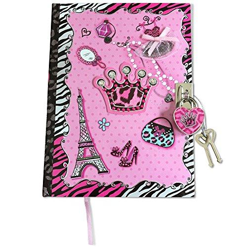 SmitCo LLC Journals For Girls, Blank Secret Kids Diary With Lock And Key, 100 Lined Pages Notebook In A Diva Design, Includes 2 Keys To Keep Her Secrets Safe, For Ages 6 And Over (Kids At Scriptures For Christmas)