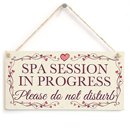 Wood Wall Plaque SPA Session In Progress Please Do Not Disturb Pretty Love Heart Wall Decor Sign Home Accessory Gift Sign