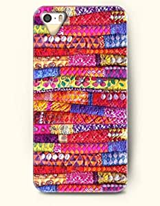 OOFIT Apple iPhone 4 4S Case Moroccan Pattern ( Piles of Colorful Fabric )