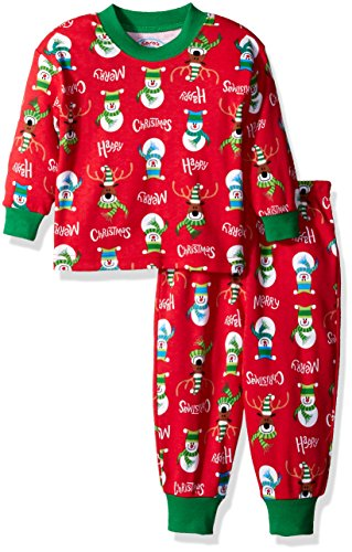 Sara's Prints Toddler Boys' Soft Relaxed Fit Pajama Set, Merry Christmas, 18M