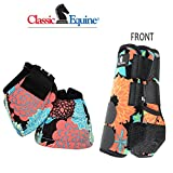 S- CORAL TROPICS CLASSIC EQUINE FRONT SPORTS + NO TURN BELL BOOTS LEGACY HORSE