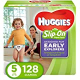 HUGGIES LITTLE MOVERS Slip-On Baby Diapers, Size 5, 128ct