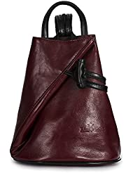 Brady by LiaTalia Womens Mens Adult Convertible Strap Italian Leather Backpack Rucksack Duffle Shoulder Bag...