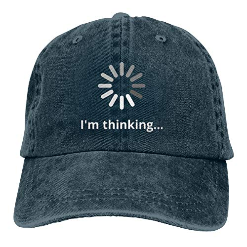 Waldeal I'm Thinking Adjustable Denim Hat Adult Vintage Baseball Cap -