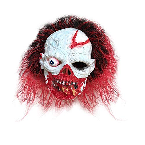 Glumes Halloween Zombie Horror Mask, for Women Men Full Head Scary Surreal Latex Masquerade Costumes (As Show)