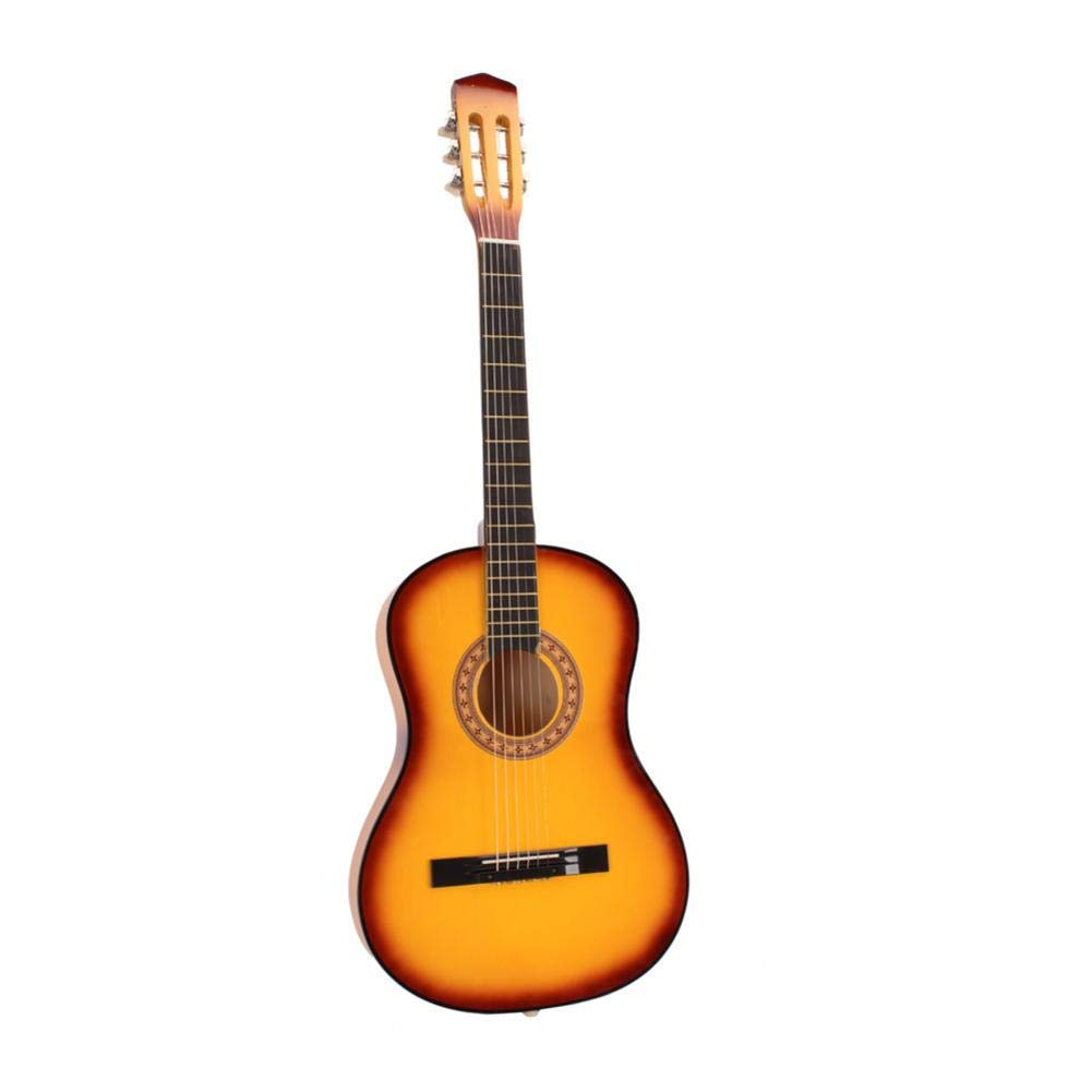 oftenrain 38'' Classical Acoustic Guitar with 6 Strings 19 Frets for Beginner, A for Your Friends, Yellow