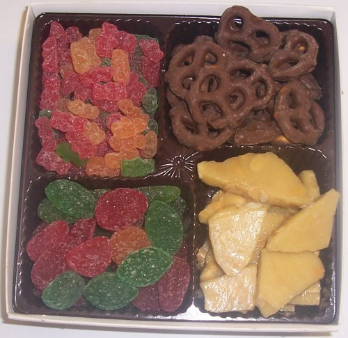 Scott's Cakes Large 4-Pack Sour Gummie Bears, Pectin Fruit Gels, Peanut Brittle, & Dark Pretzels