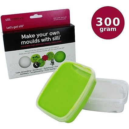 Masilla silicona Sillicreations modelo 300 G easiskins moldes para pasteles, miniaturas
