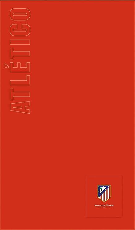 Atlético de Madrid Toalla de Playa Oficial - Con Bolsillo - Tamaño 160x100cm. Toalla de