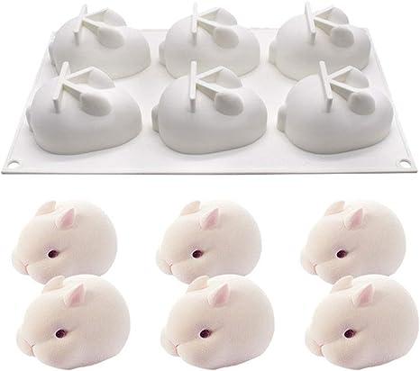3D Rabbit Silicone Fondant Mould Chocolate Sugarcraft Cake Mold Baking Tool DIY