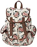 Kenox Canvas School College Backpack Bookbags for Girls Students Women Deal
