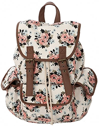 2017 Back-to-School Popular Backpacks Teens & Tweens - Kenox Casual Canvas Travel School College Backpack/bookbags/daypack for Teenage Girls/students/women (Floral-2)