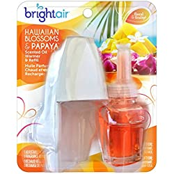 Bright Air Scented Oil Value Pack Warmer and Refill, Hawaiian Blossoms and Papaya Scent