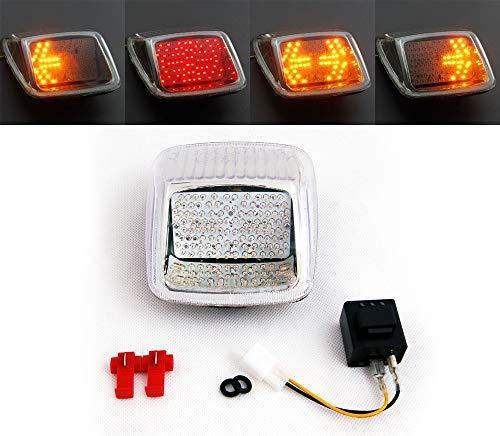 Artudatech Motorfiets LED achterlicht, motorfiets achterlichten LED achterlicht met richtingaanwijzers voor Harley…
