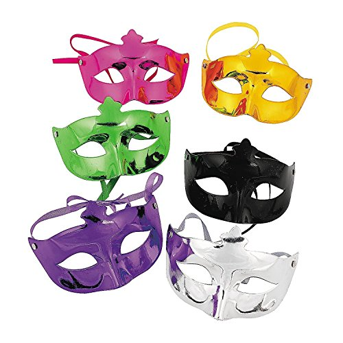 Fun Express Mardi Gras Masquerade Face Masks Costume Accessories (24 Pack) ()