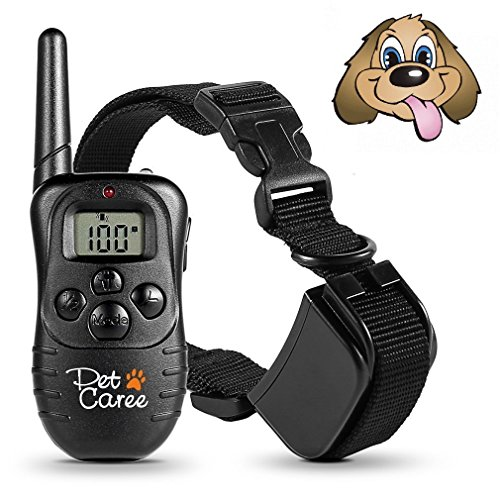 Dog Training Collar, Upgraded Sokos LED Backlight Rechargable 330YD Remote Dog Training Shock Collar, Beep Vibration Electronic Electric Collar (Black)