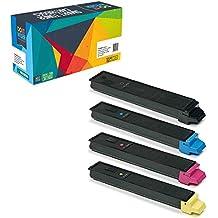 Do it Wiser Compatible Toner for Kyocera Ecosys FS C8520MFP | FS C8525MFP | FS C8520 | FS C8525 TASKalfa 205c 255c - TK-897K TK-897C TK-897M TK-897Y - 4-Pack
