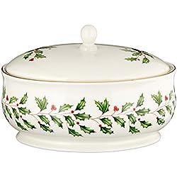 Lenox Holiday Covered Dish, Ivory