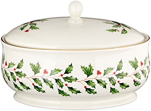 Christmas Serving Dishes (Lenox Holiday Covered Dish, Ivory)
