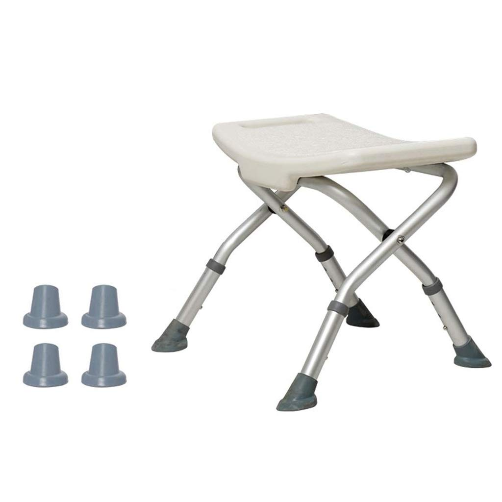 Beauty Shower Seat ,Foldable Shower Stool Aluminum Alloy Non-Slip Bath Chair for Pregnant Woman Old Man