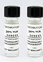 Trichloroacetic Acid TCA 20% Chemical Peel, 2-1 Dram Bottles Trichloroacetic Acid, Medically Pure