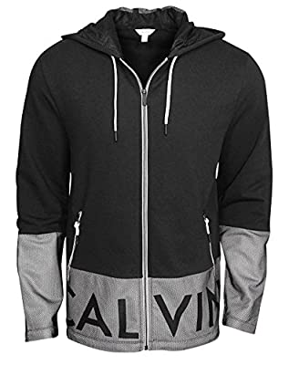 Calvin Klein Men's Mesh Overlay French Terry Hoodie