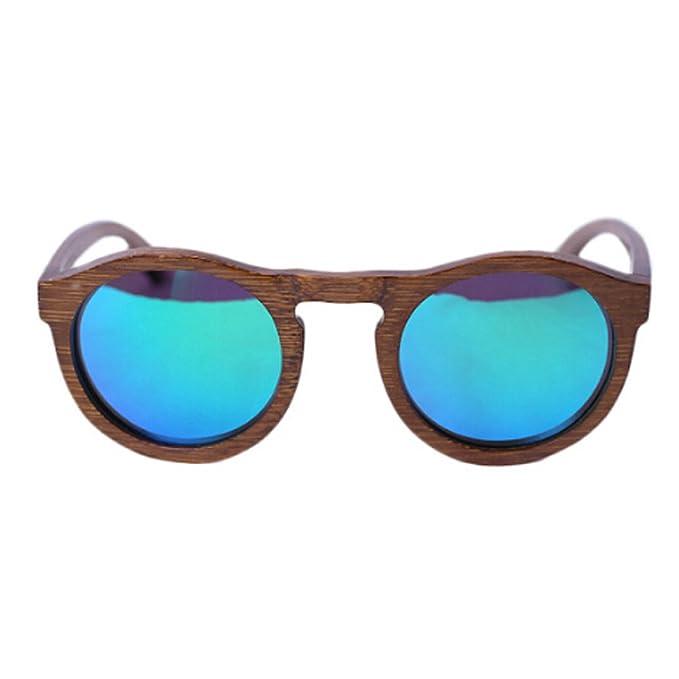 HAOYUXIANG / Mode / Holzrahmen / Holzbeine / Polarisierte / Holz Sonnenbrillen,Blue