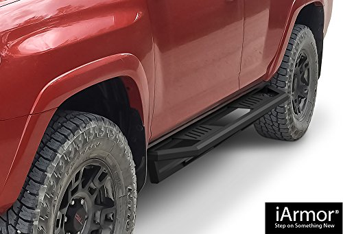 iArmor Aluminum Side Steps Armor Custom Fit 2010-2018 Toyota 4Runner Trail Edition Sport Utility 4-Door & 2014-2018 4Runner SR5 (Nerf Bars | Side Steps | Side - Aps Rail Fuel