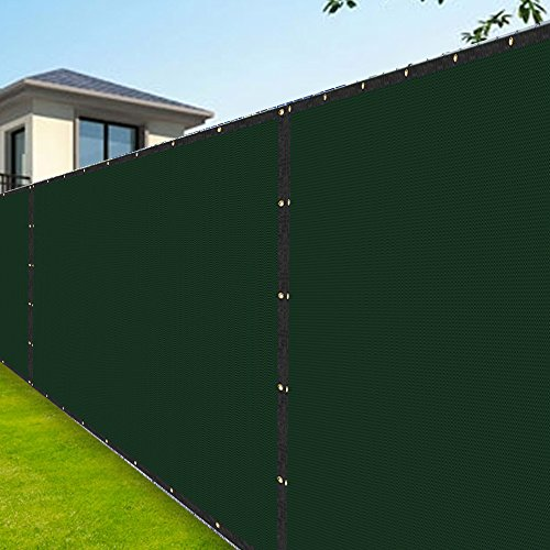 Amagabeli Fence Privacy Screen 8x50 for Chain Link Fence Fabric Screening with Brass Grommets Outdoor 8 ft Garden Patio Porch Construction Site Fencing 90% Blockage Shade Tarp Mesh UV Resistant - Mobile Sites Hot