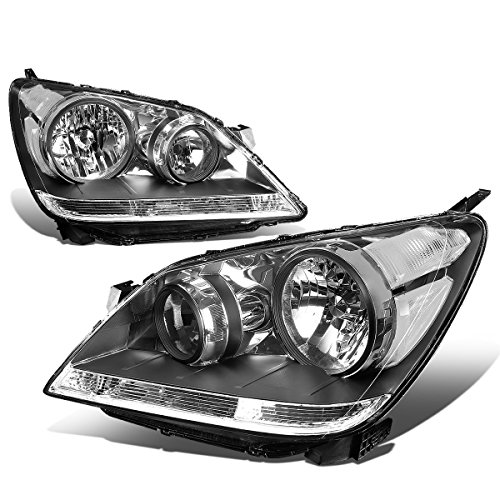 - For Honda Odyssey Pair Black Housing Clear Corner Front Driving Headlight/Lamps
