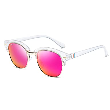 ccc9e28cc78 Image Unavailable. Image not available for. Color  VEGOOS Polarized  Sunglasses Women UV400 Protection Semi Rimless Mirrored Sun Glasses ...