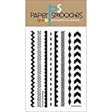 Paper Smooches Stamps, 4 by 6-Inch, Borderlicious, Clear by Paper Smooches