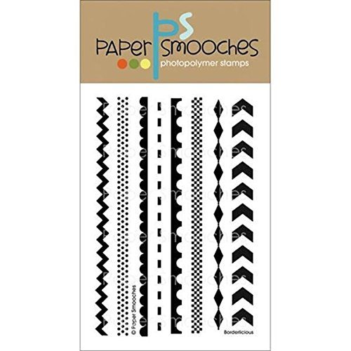 Paper Smooches Stamps, 4 by 6-Inch, Borderlicious, Clear by Paper Smooches by Paper Smooches
