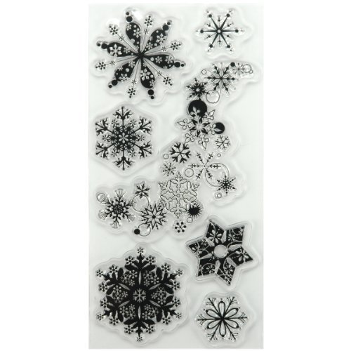 Inkadinkado Clear Seasonal Stamps 4X8 Sheet-Snowflakes A-Plenty by Inkadinkado by Inkadinkado