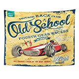 Emvency Tapestry Retro Vintage Race Car for Old School Motorcycle Sign Home Decor Wall Hanging for Living Room Bedroom Dorm 60x80 Inches