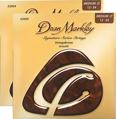 - Dean Markley Signature Vintage Bronze Acoustic Strings, 12-54 2PK