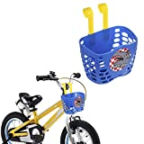 Little-Sweet Children's Blue Bicycle Basket with Hook, Handlebar Bike Basket for Kid