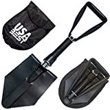 NATO Emergency Military Grade Shovel use it as a garden or snow foldable spade - 365 Day Guarantee (Black)