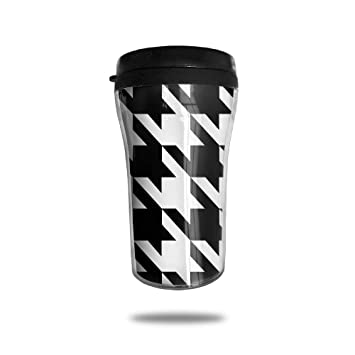 22bb836f01f FTRGRAFE Black & White Prints Houndstooth Travel Coffee Mug 3D Printed  Portable Vacuum Cup,Insulated
